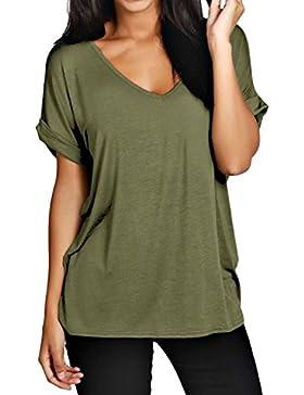 ZANZEA - Camiseta - Túnica - para mujer