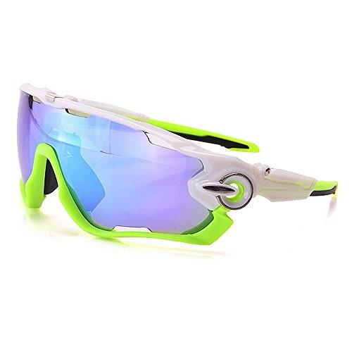 Ombrelloni sportivi occhiali da sole sportivi polarizzati oversize set 3 pezzi lenti intercambiabili protezione uv400 driving cycling running golf da corsa occhiali da motociclista