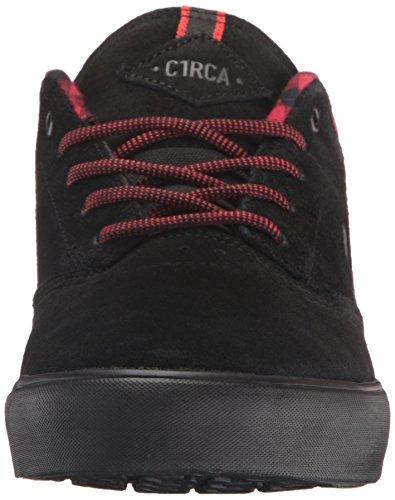 C1RCA Mens Lakota SE Water Resistant Traction Skate Skateboarding Shoe Black/Plaid