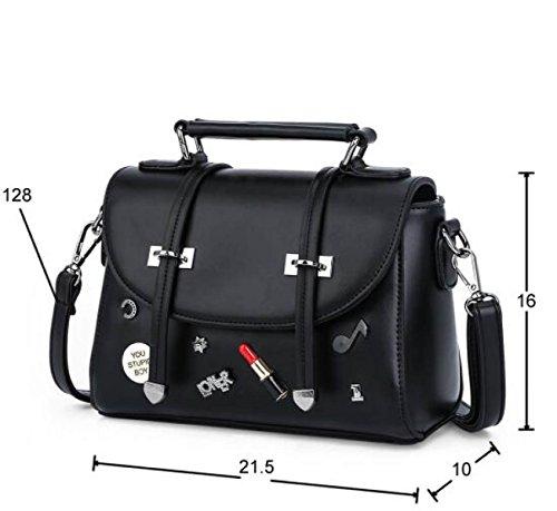 Neu Handtaschen Handtaschen Lässig Schulter Messenger Bag Persönlichkeit Mode Kleine Quadratische Tasche Black