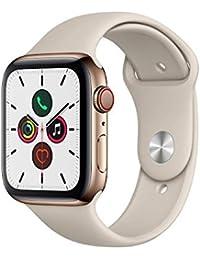Apple Watch Series 5 (GPS+Cellular, 44 mm) Edelstahlgehäuse Gold - Sportarmband Stein