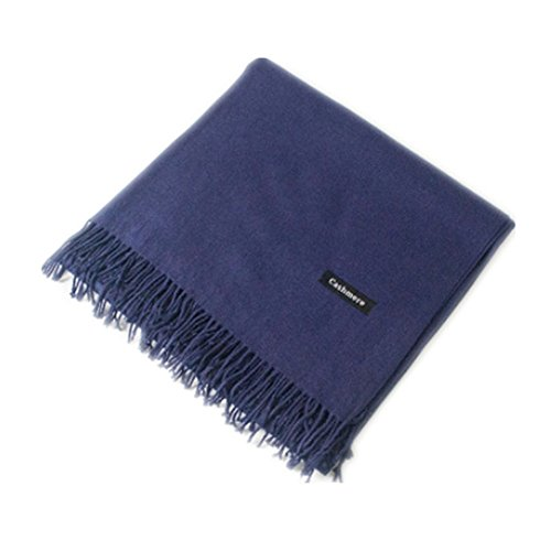 Autumn and Winter Korean Style Lovers of Super Pure Cashmere Scarf Shawl (deep blue)