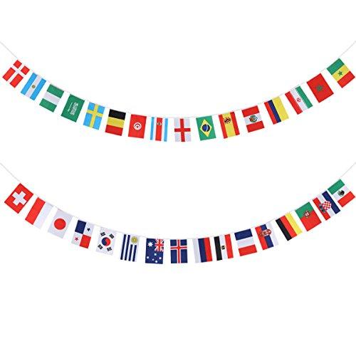 2018 World Cup Flaggen Banner BESTOYARD 32 Länder Flaggen Bunting Banner 9M