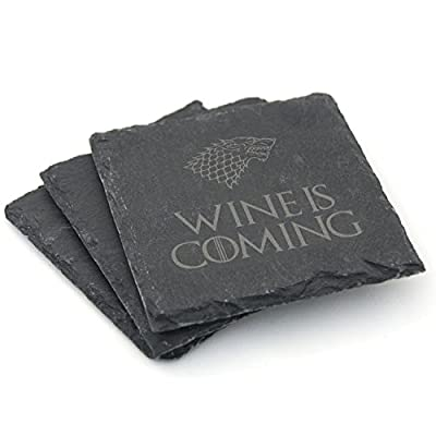 Game of Thrones Inspired Natural Slate Coasters - Set of 2 / Set of 4 - Gift