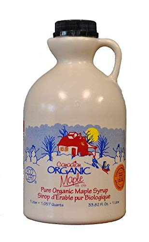 Canadian Organic Maple Syrup, Single Source, Grad A, Amber, 1l