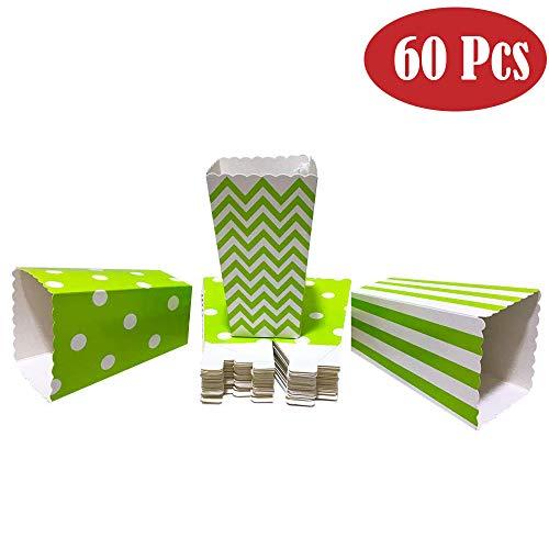 n Tüten Candy Container Popcorn Box Partytüten für Popcorn Salzstangen und Candybar (grün) ()