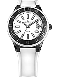 Jacques Lemans Damen Armbanduhr Multi Zifferblatt Quarz Silikon 1-1785J