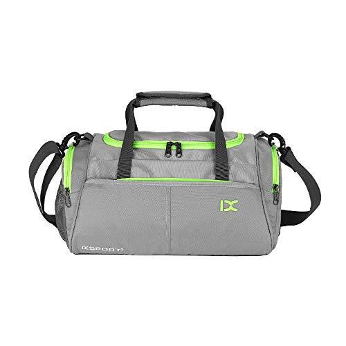 GMYQ Sport Gym Reisetasche, Trocken Nass Getrennt Schwimmen Kit Bag Wasserdichte Tasche Reisetasche für Männer und Frauen Tragbare, grau