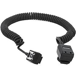 Câble d'accessoires pour Movo photo FC50N de 16 pieds (5m) robuste TTL pour flash d'appareil photo Nikon SB-300, SB-400, SB-600, SB-700, SB-800, SB-900, SB-910, etc. (Remplacement du SC-28) + Sangle en Bonus