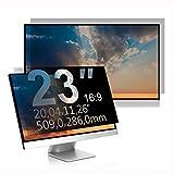 C1st 23 Zoll 16:9 Displayfilter Anti-Peeping Blickschutzfilter Sichtschutz Sichtschutzfolie 20x11,26zoll/509x286mm Strahlenschutz Blendschutz Computer Bildschirm Displayschutz