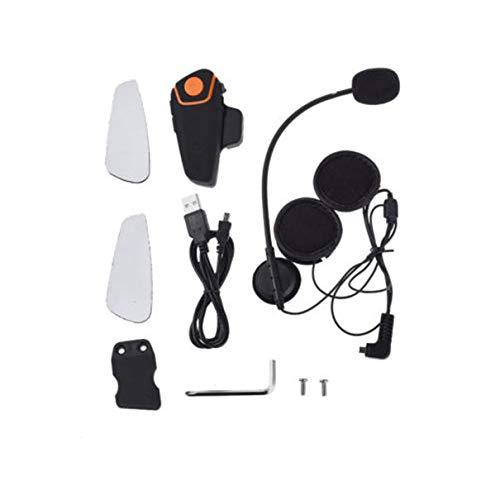 SaraHew74 Bluetooth Casco de Motocicleta Auricular Intercomunicador Auricular de comunicación Interfaz inalámbrico Universal BT-S2 A 2 o 3 usuarios