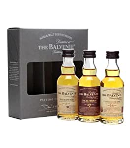 Balvenie Mini Mix / Doublewood 12 & 17 Year Old, Caribbean 14 Year Old 3x5cl Miniatures