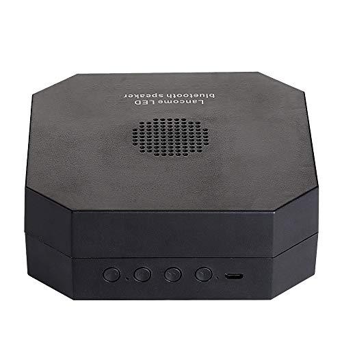 LBYMYB Kabelloser Bluetooth-Lautsprecher EIN Nachtlicht Bluetooth-Lautsprecher Faltbar Hängendes mobiles Nachtlicht Sound 2 in 1 Creative klingen (Color : Black)