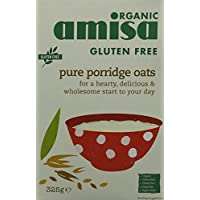Amisa Organic Gluten Free Porridge Oats 325g (Pack of 6)