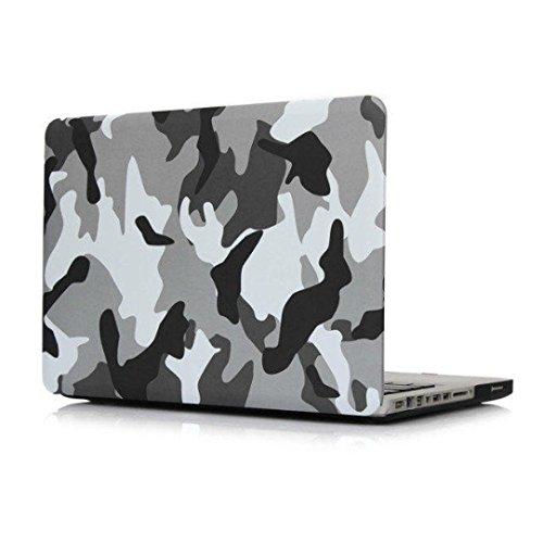 Wokee Hartschale Schutzhülle,Soft-Touch Matte Kunststoff Guard,360   ° Schutzfolie / Abdeckung für Apple MacBook Pro 15 Zoll (A) (Mac Neueste Pro)