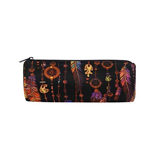 Ahomy - Estuche para lápices con cremallera, estilo bohemio tribal atrapasueños, para adolescentes y niños, bolsa de maquillaje de viaje para mujeres