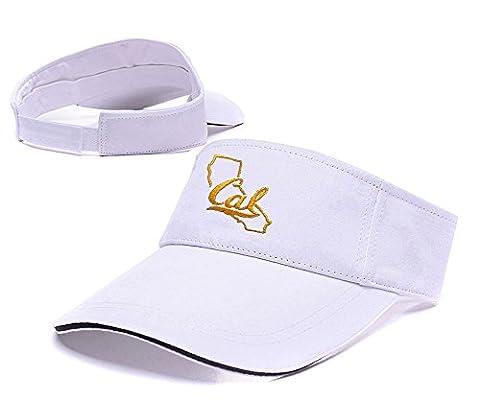 sianda Cal Ours Bleu marine Tradition State Logo Visière de golf à broder Hat Sun PAC Taille unique White Visor