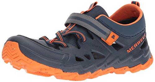 Merrell Kids' Hydro 2.0 Sandal, Blue/Citron, 10 Medium US Toddler - Merrell Junge Schuhe