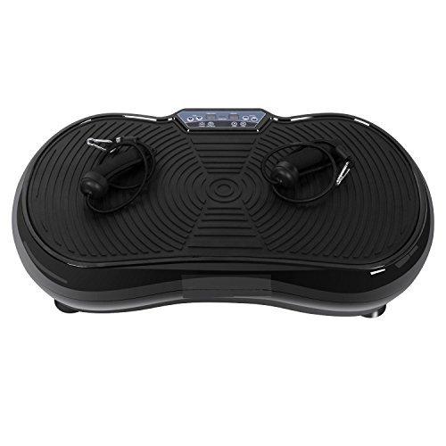 Beautytalk vibrationsplatte Vibrationsreduzierungsmaschine Fitness Vibration Platform schüttelt und Stehend auf Abnehmen Fett (DE Lager) (Schwarz 2)
