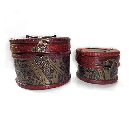 hmuck-Aufbewahrungsbox aus Holz für Schmuck, Aufbewahrungsbox, Charmantes altes Geschenk, Frau Mon, 2 Stück ()