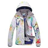 APTRO Damen Skijacke warm Jacke gefüttert Winter Jacke Regenjacke Rot 9046 XS