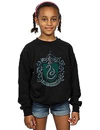 Harry Potter niñas Slytherin Distressed Crest Camisa De Entrenamiento