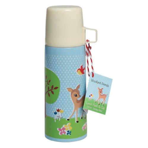 """Preisvergleich Produktbild Thermosflasche Thermoskanne mit Trinkbecher Reh und Igel """"woodland animals"""" 350 ml # 24644"""