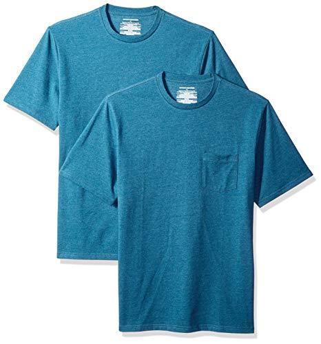 Amazon Essentials 2-Pack Regular-fit Crew Pocket T-Shirt Red