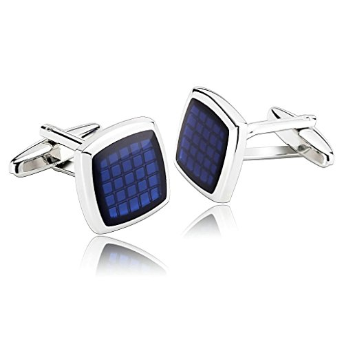 amdxd-jewelry-stainless-steel-men-cufflinks-blue-classic-square-carbon-fiber-cuff-links
