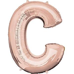 Anagram- Globo de aluminio de 40 cm de la letra C en color oro rosa, dorado, c (7A3745411)
