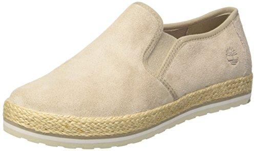 Timberland Damen Elvissa Sea Leather Slip on Sneaker, Braun (Simply Taupe L47), 37,5 EU (Timberland Slip-on)