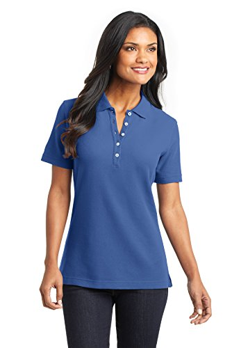 Port Authority L800 Damen ezcotton Pique Polo Blau - Moonlight Blue