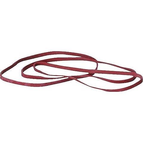 5 Star 822426 - Elastici in gomma, 1.000 g, 150 x 4 mm, in confezione di cartone, colore: Rosso