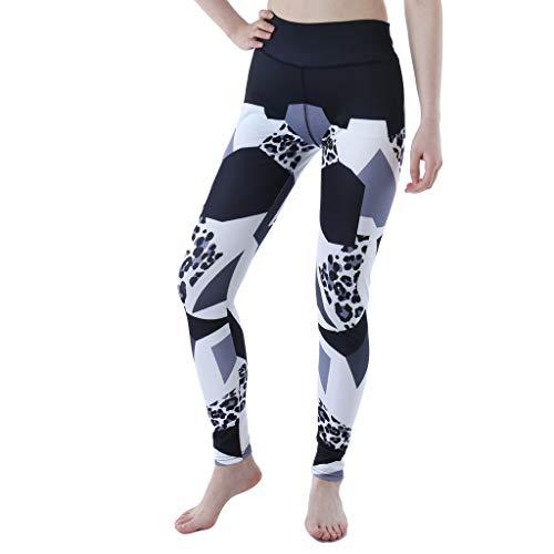Setsail Damen Printed Sexy schlanke Hose Joint Sports Running Fitness Enge Yogahosen Bequeme Hose -