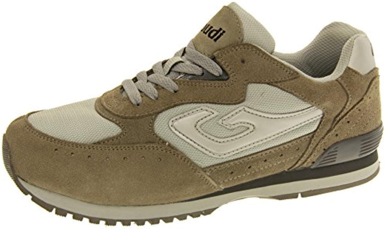 Gaudi Hombre Cuero Zapatos de Cordones Trainer