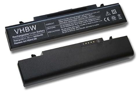 Batterie LI-ION 4400mAh 11.1V noir compatible pour SAMSUNG E-, P-, Q-, R-, RF-Serie remplace AA-PB9NC6B, AA-PB9NS6B, AA-PB9NC6W