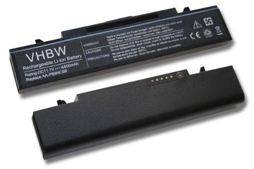 vhbw Li-Ion Akku 4400mAh (11.1V) schwarz für Notebook Laptop Samsung NP300E7A, NP300V4A, NP305E7A, NP355V5C wie AA-PB9NC6B, AA-PB9NC6W.
