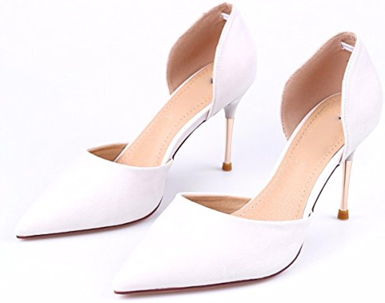 GTVERNH Damen/Women'S/Pumps/HeelsMode Hohl Sandalen Herbst Flachen Mund Dünne Sohle Einzelne Schuhe Sagte Frauenö