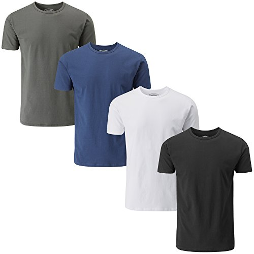 Charles Wilson 4 Pack Men's Comfort Stretch Crew Neck T-Shirt