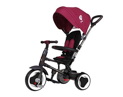 Mondial Toys Triciclo Passeggino Pieghevole RITO 3 in 1 con MANIGLIONE DIREZIONABILE E CAPPOTTINA Parasole Colore Purple