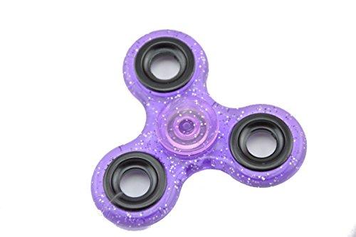 Preisvergleich Produktbild HENGSONG Fidget Toys Hand Spinner Finger Spielzeug für Kinder und Erwachsene Spielzeug Geschenke (lila mit Glitzer)
