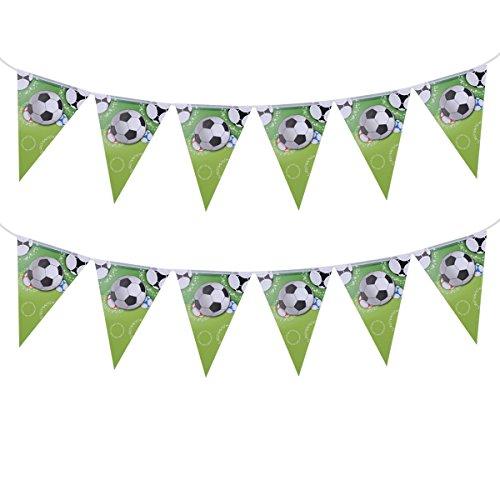 BESTOYARD Wimpel Bunting Banner Fußball hängende Flagge Sport Thema Party Dekoration (grün)
