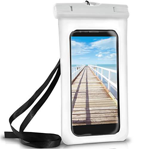 ONEFLOW Wasserdichte Hülle für LG | Full Cover in Weiß 360° Unterwasser-Gehäuse Touch Schutzhülle Water-Proof Handy-Hülle für LG K10 2017 2018 K8 K9 K11 K7 K4 K3 Q6 Q7 UVM Case Handy-Schutz