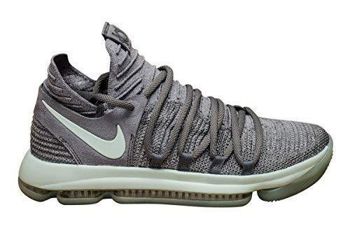 NIKE Mens Zoom KD 10 X Mens Basketball Sneakers New, Cool Grey Igloo White 897815-002 (10.5)