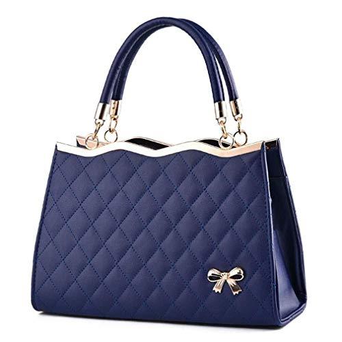 Nuanxin Beiläufige Handtasche, Beutel Der Frauen, Weibliche PU-Lederhandtasche, Dunkelblau, 30 * 20 * 10 cm U10
