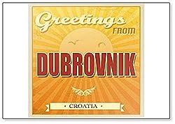 """Kühlschrankmagnet, Motiv""""Greetings From Dubrownik"""", Vintage-Stil, Motiv: Kroatien"""