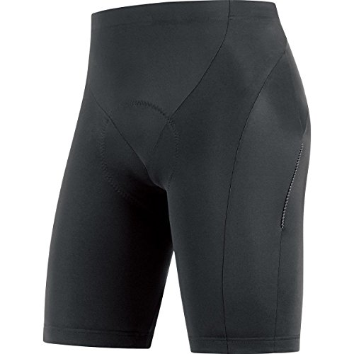 GORE BIKE WEAR, Tights Ciclismo Uomo, Imbottiti GORE Selected Fabrics, ELEMENT short+, Taglia L, Nero, TELETS990005