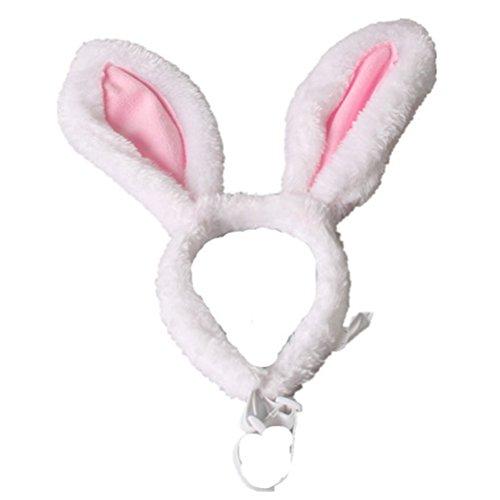 Amosfun Bunny Stirnband Hund Kaninchen Ohren Muster Party kostüm zubehör Headwear für Katze Hund - größe s (Hund Bunny Ohren Kostüm)
