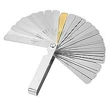 Voelermaat, Wacent Hoge kwaliteit Nuttig en duurzaam 32 messen Voelermaat Roestvrij staal Metrisch imperiaal 0,04-0,88 mm meetinstrument