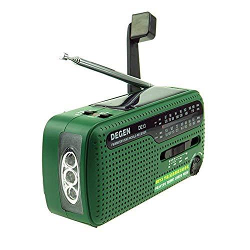 JXFS Solar Radio FM AM SW Empfänger Crank Dynamo Radio Mit Handy Ladegerät Taschenlampe Multifunktionale Notfall LED Taschenlampe und Power Bank -